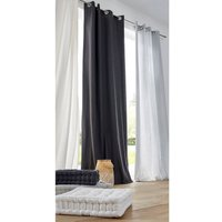 100% Cotton Single Curtain with Eyelets