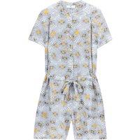 shop for Floral Print Tie-Waist Playsuit at Shopo