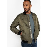 Water-Repellent Bomber-Style Padded Jacket