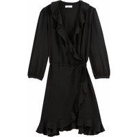 shop for Ruffled Wrapover Midi Dress at Shopo