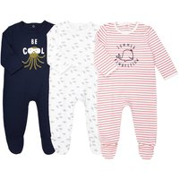 Pack of 3 Cotton Sleepsuits, Birth-3 Years