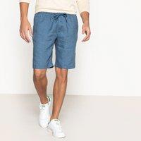 Linen Bermuda Shorts with Elasticated Waist