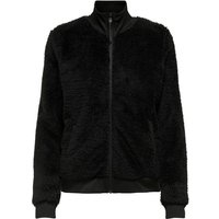 Faux Fur Zipped Jacket with High-Neck