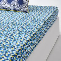 Blue Riviera Printed Fitted Sheet
