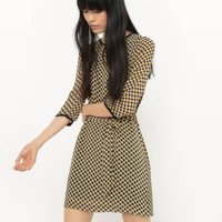 Printed Belted Shift Dress - Exclusive