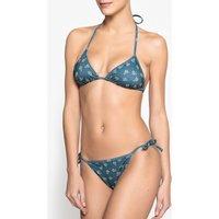 Printed Triangle Bikini Top