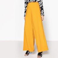 Wide Leg High Waist Trousers, Length 30.5