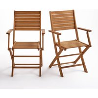 Set of 2 Euka Folding Garden Chairs