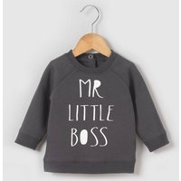 'Mr Little Boss' Slogan Sweatshirt, 1 Mth-3 Yrs