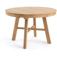 Zebarn Extendable Round Table in Solid Oak