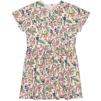 Printed Cotton Dress with Short Sleeves, 3-12 Years