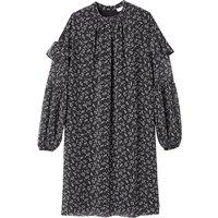 shop for Paisley Print Mini Dress with Long Ruffled Sleeves at Shopo