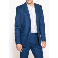 Cotton Slim Fit Single-Breasted Suit Jacket