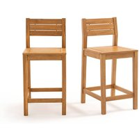 Garden Acacia Bar Chairs (Set of 2).