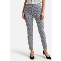 Cotton Gingham Peg Trousers, Length 26.5