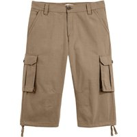 Cotton Cropped Cargo Trousers, Length 17