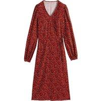 shop for Wrapover Midi Dress in Animal Print at Shopo