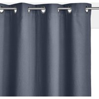 Taima Linen/Cotton Single Blackout Lined Curtain with Eyelets.