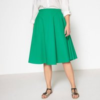 Plain Midi Flared Skirt