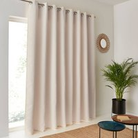 Voda Extra Wide Single Blackout Curtain with Eyelets.