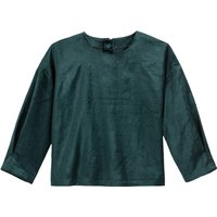 shop for Cropped Velvet Top with Zipped Back at Shopo