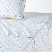 Teyben Floral Cotton Percale Flat Sheet