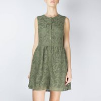 Plain Sleeveless Midi Dress