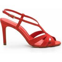 Jowi Nub Leather Stiletto Heel Sandals