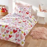 Free Heart Child's Heart Print Cotton Duvet Cover