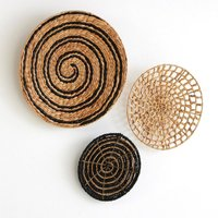 Pack of 3 Aslal Water Hyacinth Wall Decorations