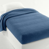 Plain Semi-Fitted Blanket In Pure New Wool