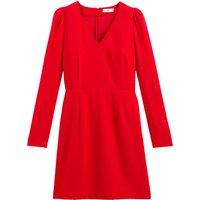 shop for V-Neck Mini Dress with Long Puff Sleeves at Shopo