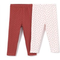 Pack of 2 Cotton Leggings, Birth-3 Years