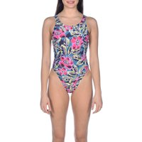 1-piece Tropical Sketch Swimsuit
