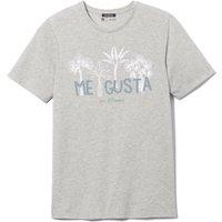 T-shirt Antracite uomo T-shirt scollo rotondo fantasia puro cotone