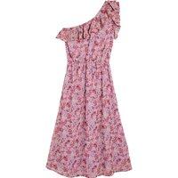 shop for Ruffled Asymmetric Midaxi Dress at Shopo