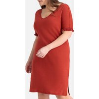 Linen/Cotton Jersey Dress with Tassel Braid
