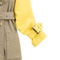 Cotton Long Trench Coat