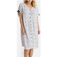Buttoned Polka Dot Dress