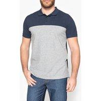T-shirt blu/arancione;Marine/grigio chiné uomo Polo bicolore Oeko Tex