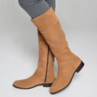 Woven Leather Boots