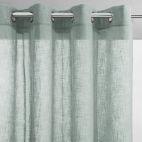 Nyong Linen Effect Single Voile Panel with Eyelets.