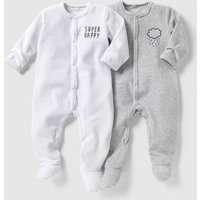 Pack of 2 Velour Sleepsuits, Birth-3 Years