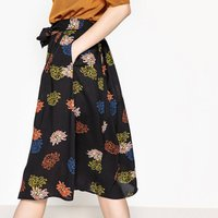 Front Buttoned Midi Skirt