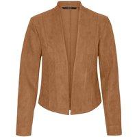 Open Short Jacket in Faux Suede