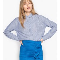 Long-Sleeved Striped Loose Fit Shirt