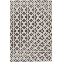 Iswik Flat-Weave Rug with Cement Tile Motif.