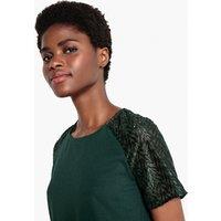 shop for Embellished Sleeve Blouse at Shopo