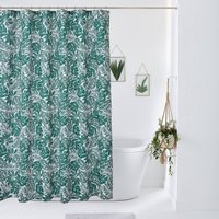 Ficus Patterned Shower Curtain