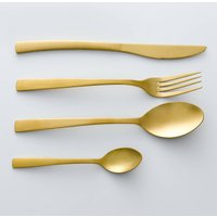 Set of 4 Auberie Gold-Coloured Stainless Steel Teaspoons